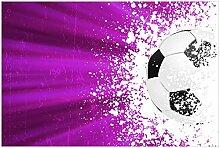 Wallario Glasbild Fußball - Splashing Design in