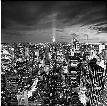 Wallario Glasbild New York bei Nacht -