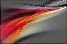 Wallario Glasbild Schwarz rot pink - Abstraktes