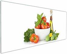 Wallario Küchen-Rückwand | Glas mit Motiv