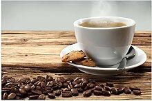 Wallario Premium XXL Vliestapete Heiße Tasse