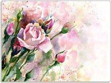 Wallario Schneidbrett Abstraktes Blumenbuket,