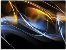 Wallario Schneidbrett Abstraktes Design, ESG-Glas,