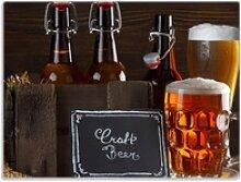 Wallario Schneidbrett Biervarianten - Pils im Glas