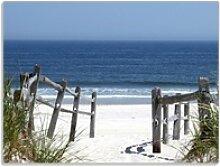 Wallario Schneidbrett Blick auf Strand, ESG-Glas,