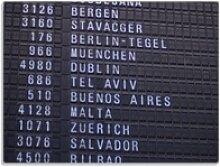Wallario Schneidbrett Flughafen Abflugtafel,