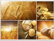Wallario Schneidbrett Getreide und Brotsorten aus