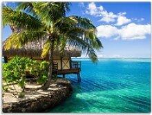 Wallario Schneidbrett Karibisches Meer – Einsame