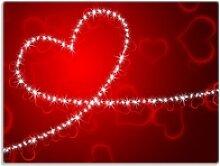 Wallario Schneidbrett Leuchtendes Herz aus Sternen