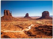 Wallario Schneidbrett Monument Valley unter blauem
