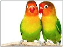 Wallario Schneidbrett Papageien auf dem dünnen
