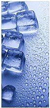 Wallario Selbstklebende Türtapete Eiswürfel - 93