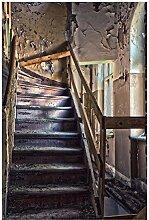 Wallario selbstklebendes Poster - Treppe in Einem