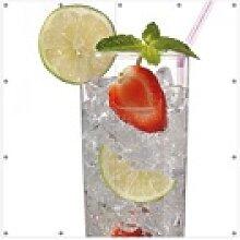 Wallario Sichtschutzzaunmatten Glas Wasser mit