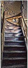 Wallario XXL Poster - Treppe in Einem Alten Haus