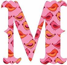 WallCandy Arts Luv Buchstaben Birds M Aufkleber,