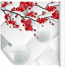 Wallepic Fototapete Blumen 3D Effekt 150 x 225 cm