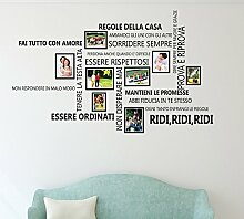 Wallflexi Wand Aufkleber Familie Zitate