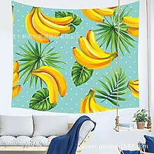 WALLhang Home Tuch Tropische Pflanze Ananas
