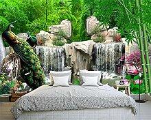 wallmuralthree Bambuswaldsteingarten Der Tapete 3D