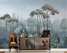 wallmuralthree Tapete 3D Mit Dschungelwand