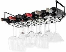 Wallniture Piccola Weinregal und Gläserhalter,
