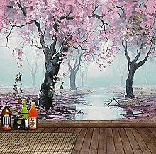 WALLPACL Fototapete Tapete 3D Blumen Ölgemälde