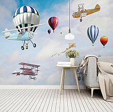 WALLPACL Fototapete Tapete Cartoon Flugzeug Ballon