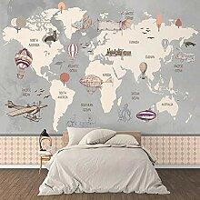 WALLPACL Fototapete Tapete Retro Weltkarte Großes