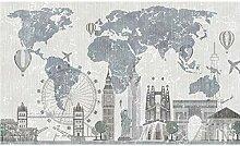 WALLPACL Fototapete Tapete Weltkarte