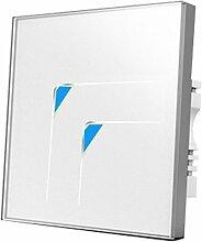 Wallpad C5kratzfest 2Gang 2Wege oder dreieckig Symbol weiß Glas Panel Touch-Sensor Wandleuchte Zwischendimmer Voll Sensitive