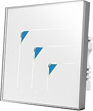 Wallpad C5Luxus weiß kratzfest 3Gang 2Wege oder Kristall Panel Touch-Sensor Wall Light Zwischendimmer