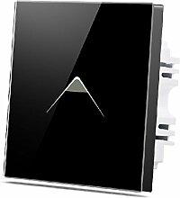 Wallpad C7Deko dreieckigen Symbol schwarz 1-Gang 2Wege Intermediate Glas Kristall Panel Touch-Wandleuchte Schalter