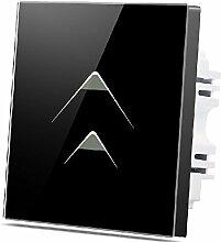 Wallpad C7Deko schwarz 2Gang 1Weg, Glas Panel Touch-Schalter, kratzfest dreieckig Symbol vollständig Sensitive