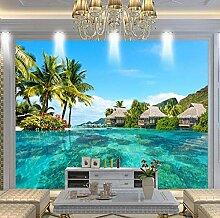wallpaper 3D Fototapete HD Maldives Meer Strand