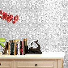 Wallpaper 3D-Tapete im europäischen Stil mit Blumenvlies 3D-Tapete Wohnzimmer Schlafzimmer Tapete Schalldämpfend Wunderschöne Tapeten Roll (Klebstoff nicht enthalten) , 4