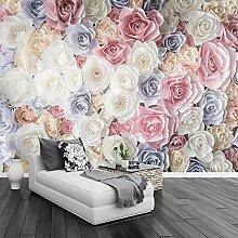 Wallpaper 3D Wandbild Farbe Stieg Blühende Blume