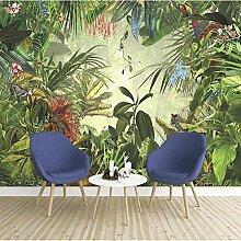 Wallpaper 3D Wandbild Farbige Blätter Vlies Wand