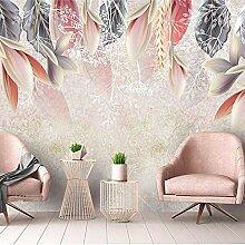 Wallpaper 3D Wandbild Farbige Blumenlandschaft