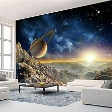 Wallpaper 3D Wandbild Sonnensystemlandschaft Vlies