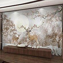 Wallpaper 3D Wandbild Tierische Hirschlandschaft