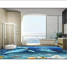 Wallpaper 3D werbung 3d Boden Wandbilder Delphin