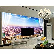 Wallpaper City View Fenster Mode 3D Wallpaper Tv