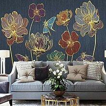 Wallpaper Einfache Blumen Tapete 3D Pflanze Foto