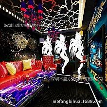 Wallpaper Expert Wandbild Masken, große Gemälde