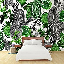 Wallpaper Fototapete 3D Schwarzweiß Tropische