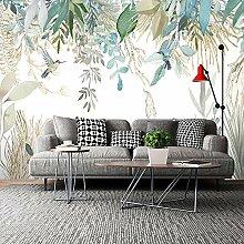 Wallpaper Fototapete Handgemalte Tropische Pflanze