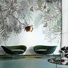Wallpaper Fototapete Nordic INS Tropische Pflanze