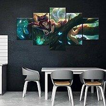 Wallpaper M 5 Stück Moderne Leinwand Malerei