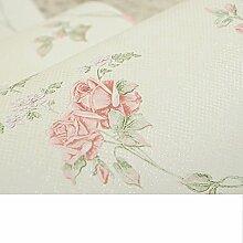 wallpaper/Vliestapete/Idyllische kleine florale Tapete/setzen Sie die Schlafzimmer-Tapete/Wohnzimmer warm Tapete-A